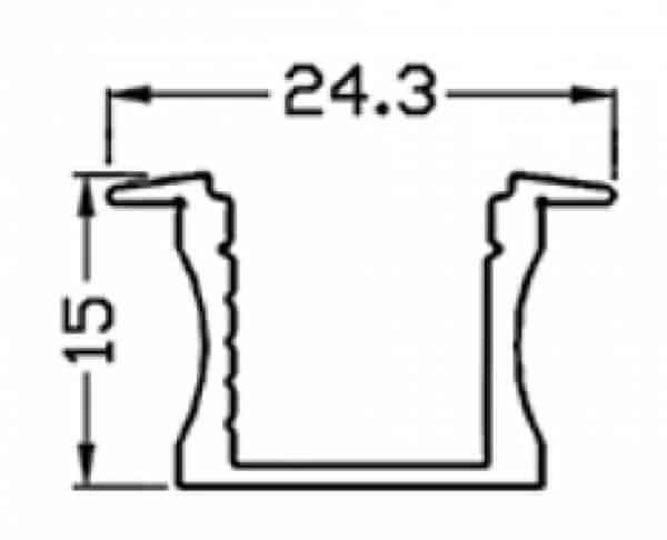 פרופיל LED R1.5