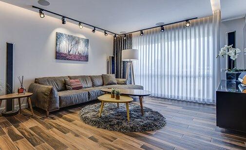 גופי תאורה מעוצבים לפרויקט דירה
