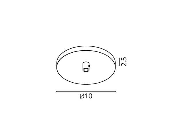 גוף תאורה אלמנט R1: בסיס עגול ל-1 גופים