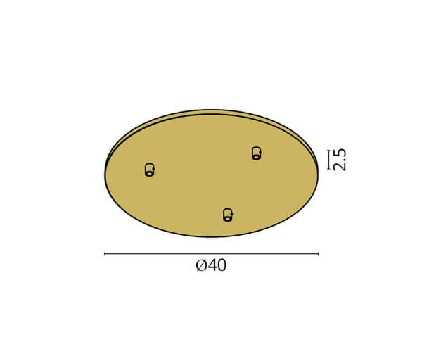 גוף תאורה אלמנט R3: בסיס עגול ל-3 גופים