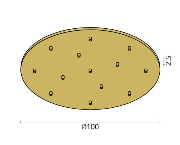 גוף תאורה אלמנט R13: בסיס עגול ל-13 גופים